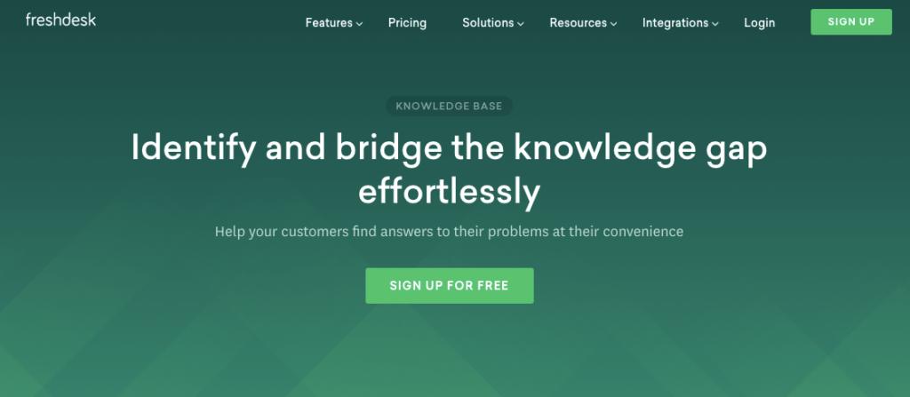 software de base de conocimientos de freshdesk