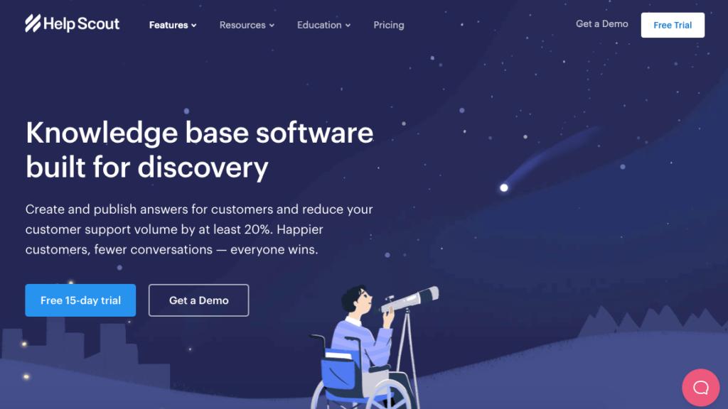 software de base de conocimientos de helpcout