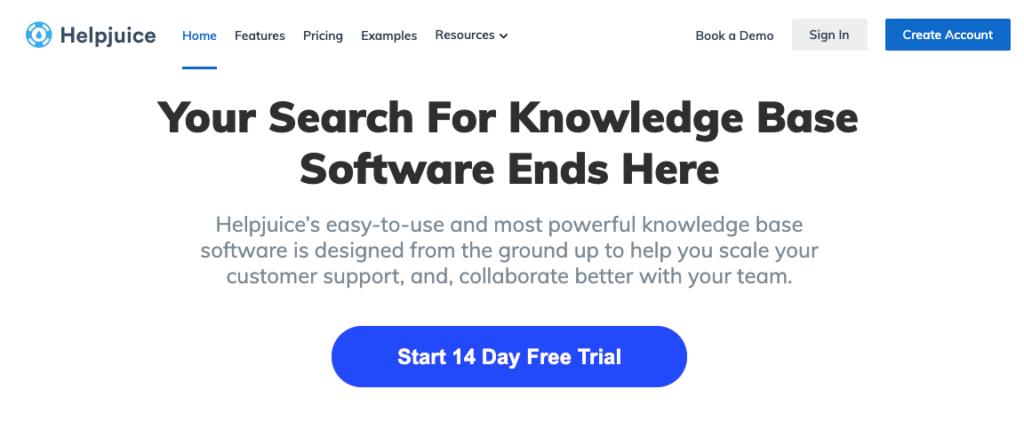 software de base de conocimientos helpjuice