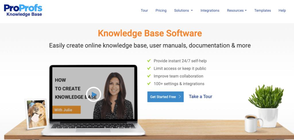 software de base de conocimientos proprofs