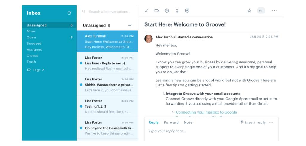 clientes incorporando correos electrónicos en la aplicación