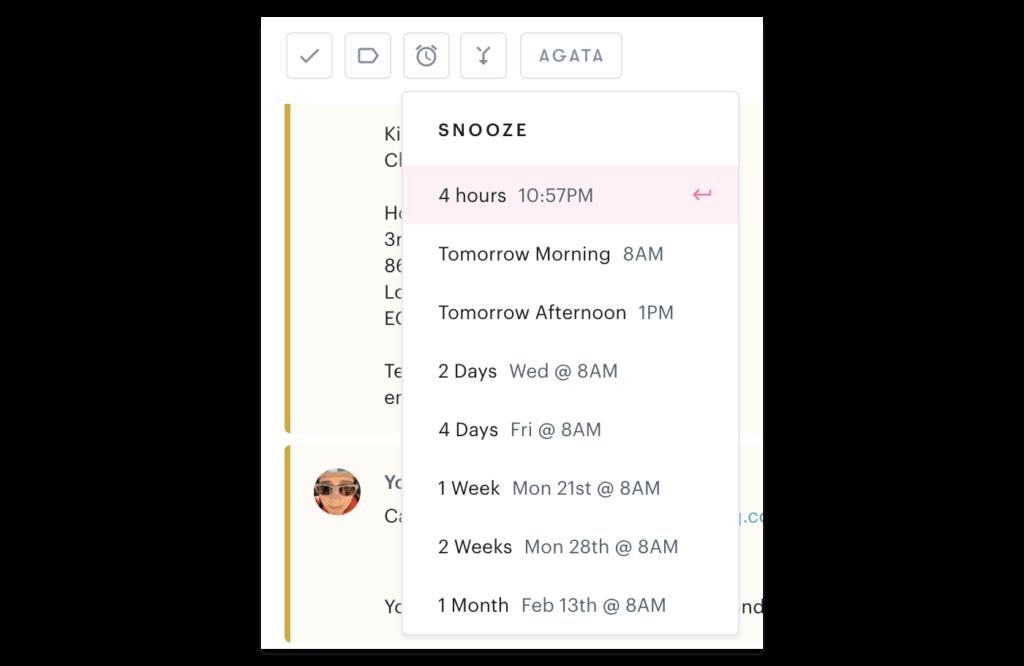 La bandeja de entrada compartida de Gmail carece de recordatorios de seguimiento a diferencia de la bandeja de entrada compartida de Groove.