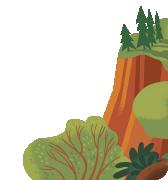 Ilustración de acantilado verde