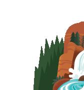 Ilustración de watercliff