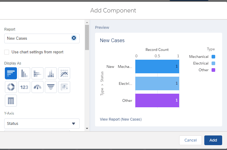 Los paneles de Salesforce agregan parámetros de componentes