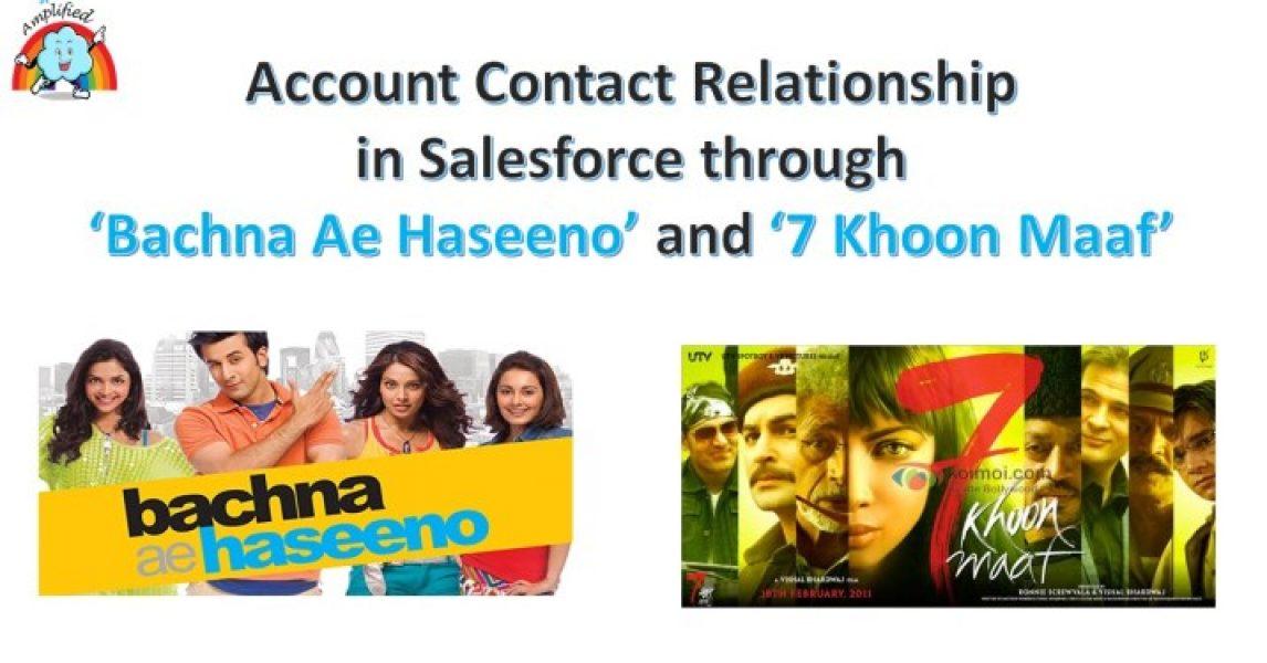Relación de contacto de cuenta en Salesforce a través de 'Bachna Ae Haseeno' y '7 Khoon Maaf'